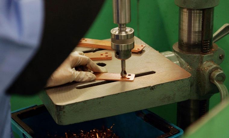 導体製造(銅製品加工)